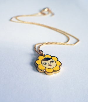Image of Flower Face Necklace