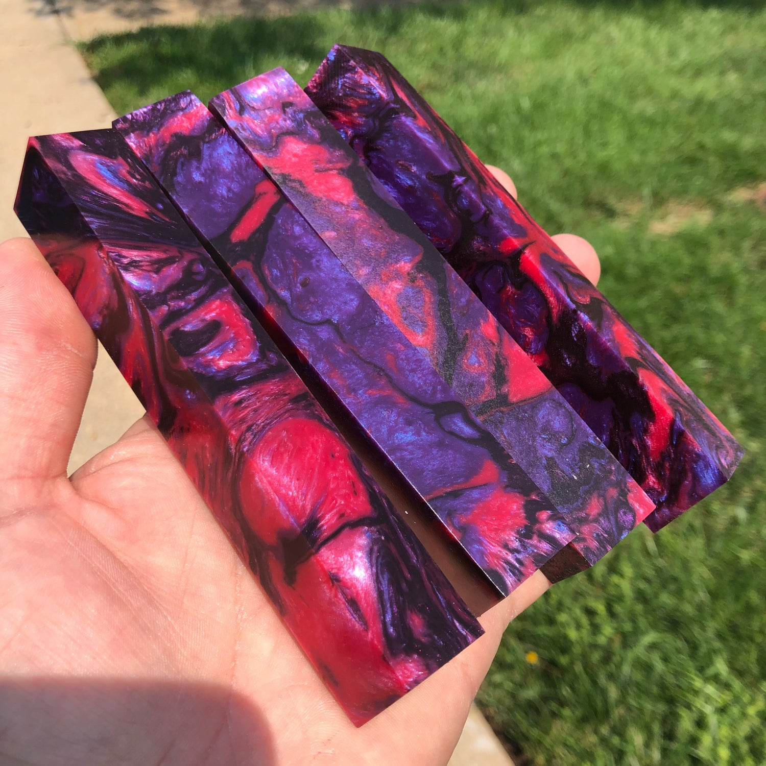 "Image of Violet Inferno ShokRes Pen Blanks 13/16"" x 13/16"" x 5-1/4"""