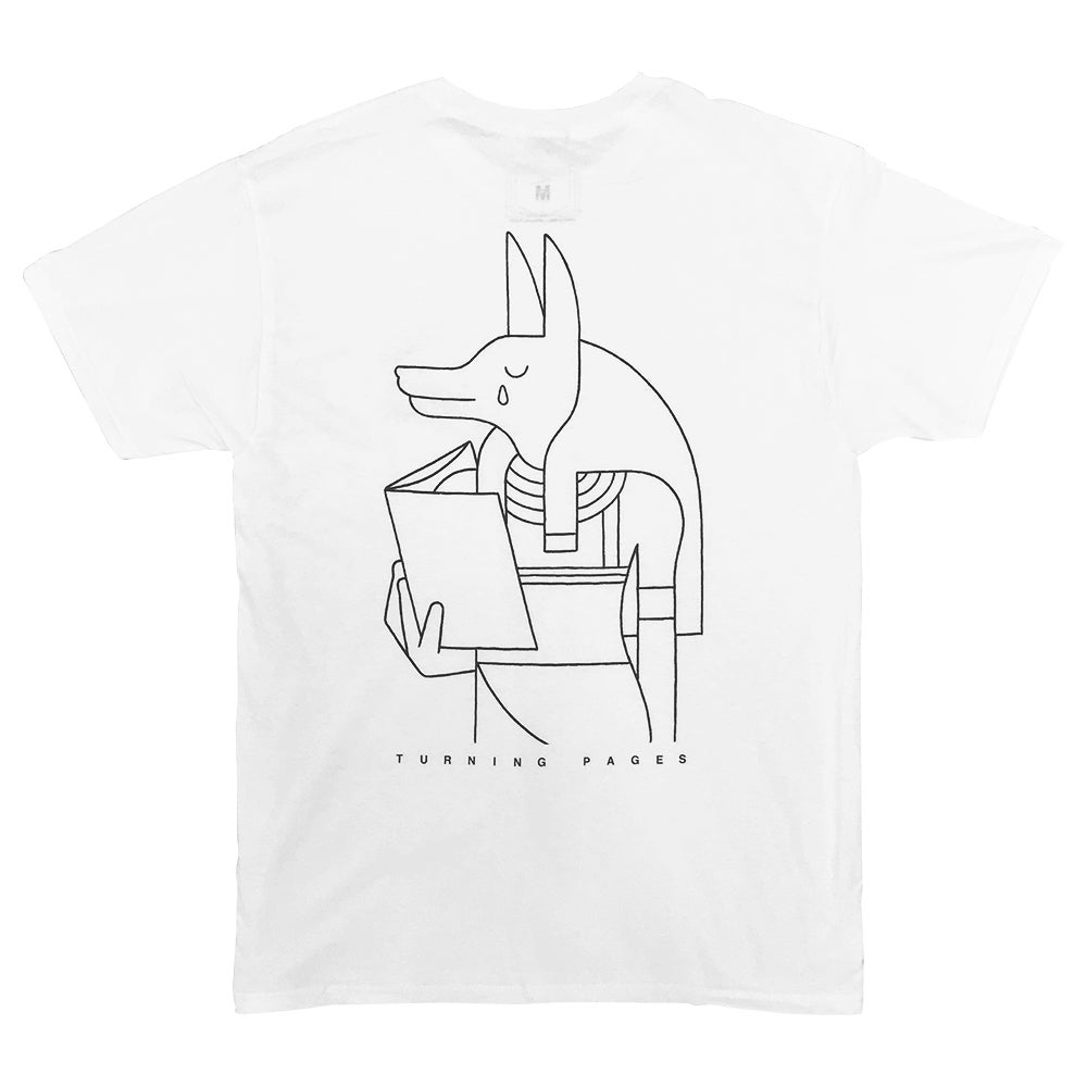 "Image of Lennard Kok × commune<br>""TURNING PAGES"" Tshirt [WHITE]"