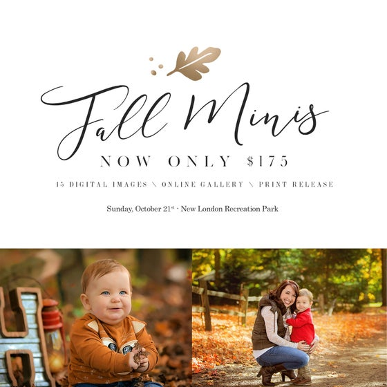 Image of Fall Mini Sessions 2018