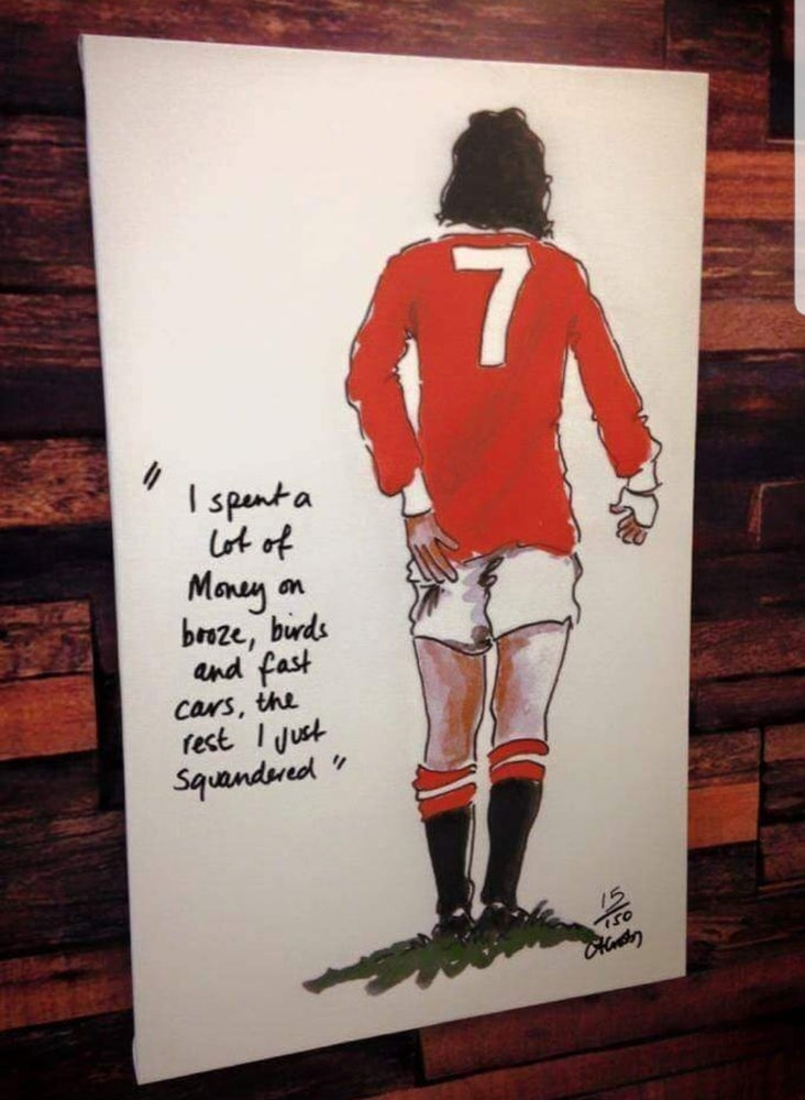 """Image of George best  """"quote"""" Crosby Art"""