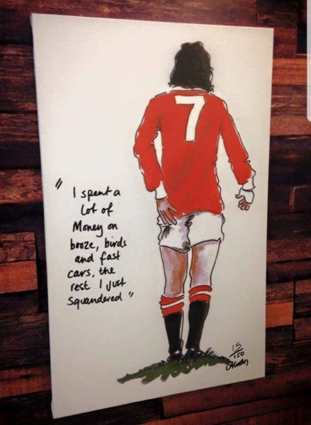 "Image of George best  ""quote"" Crosby Art"