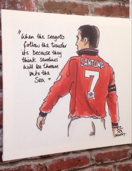 Image of Cantona Seagulls quote - Crosby Art