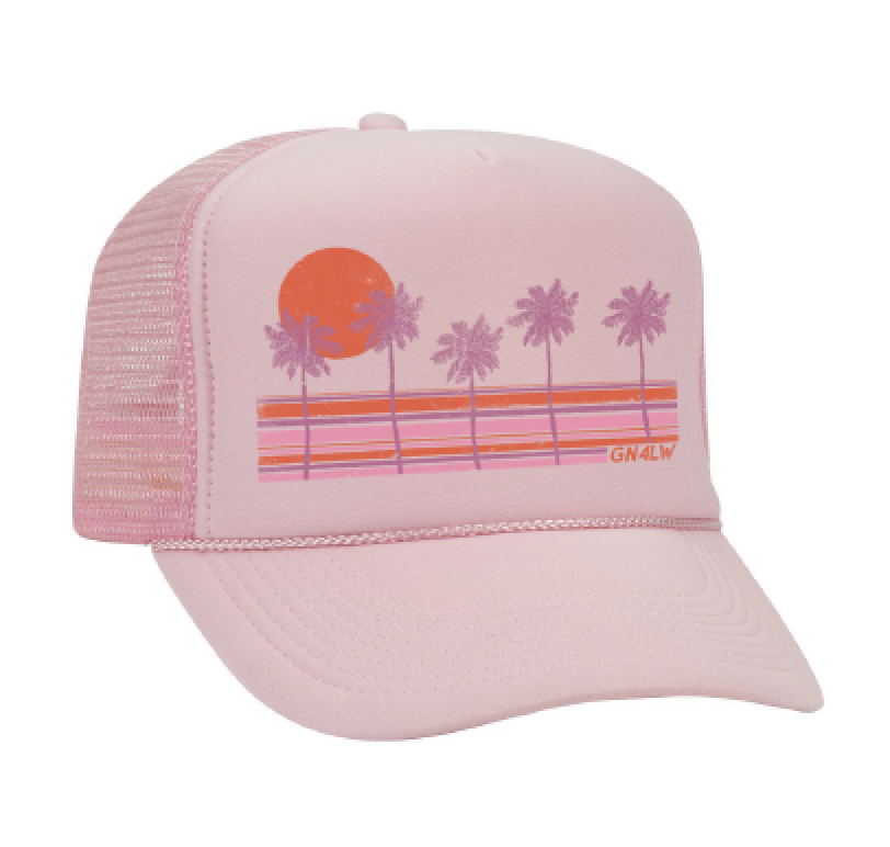 Image of GN4LW x Sunshine Canteen Palm Tree Trucker Hat