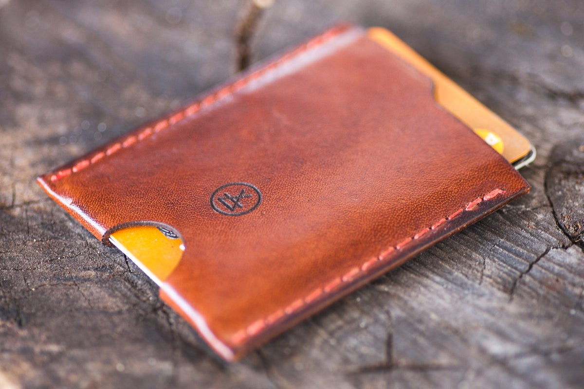 Image of Kangaroo leather card sleeve