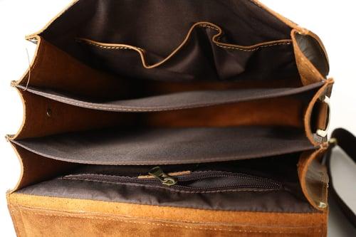 Image of Vintage Brown Rustic Leather Rucksack Backpack, Messenger Bag, Sling Shoulder Bag YD8062
