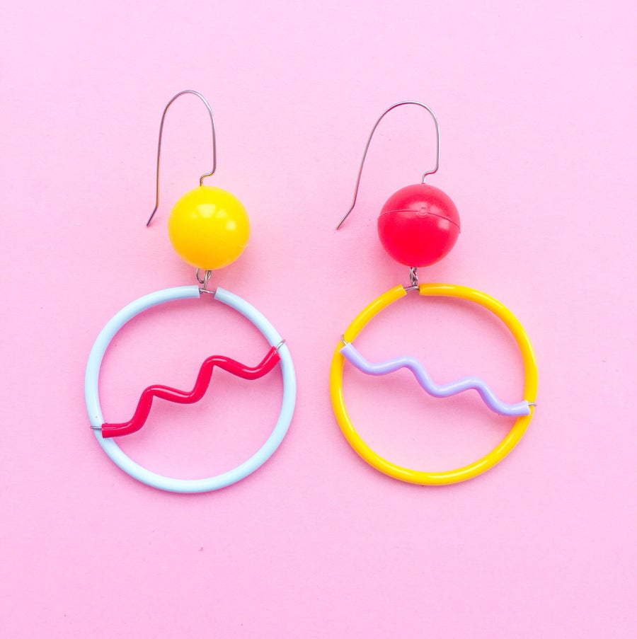 Image of Mini Memphis earrings