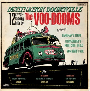 Image of SALE PRICE. LP The Voo-Dooms : Destination Doomsville.  Ltd Edition Colour Splatter.