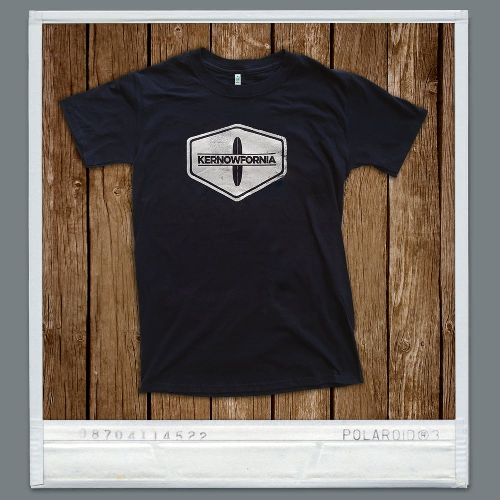 Image of Retro Logo / T-shirt / Unisex (white & navy blue)