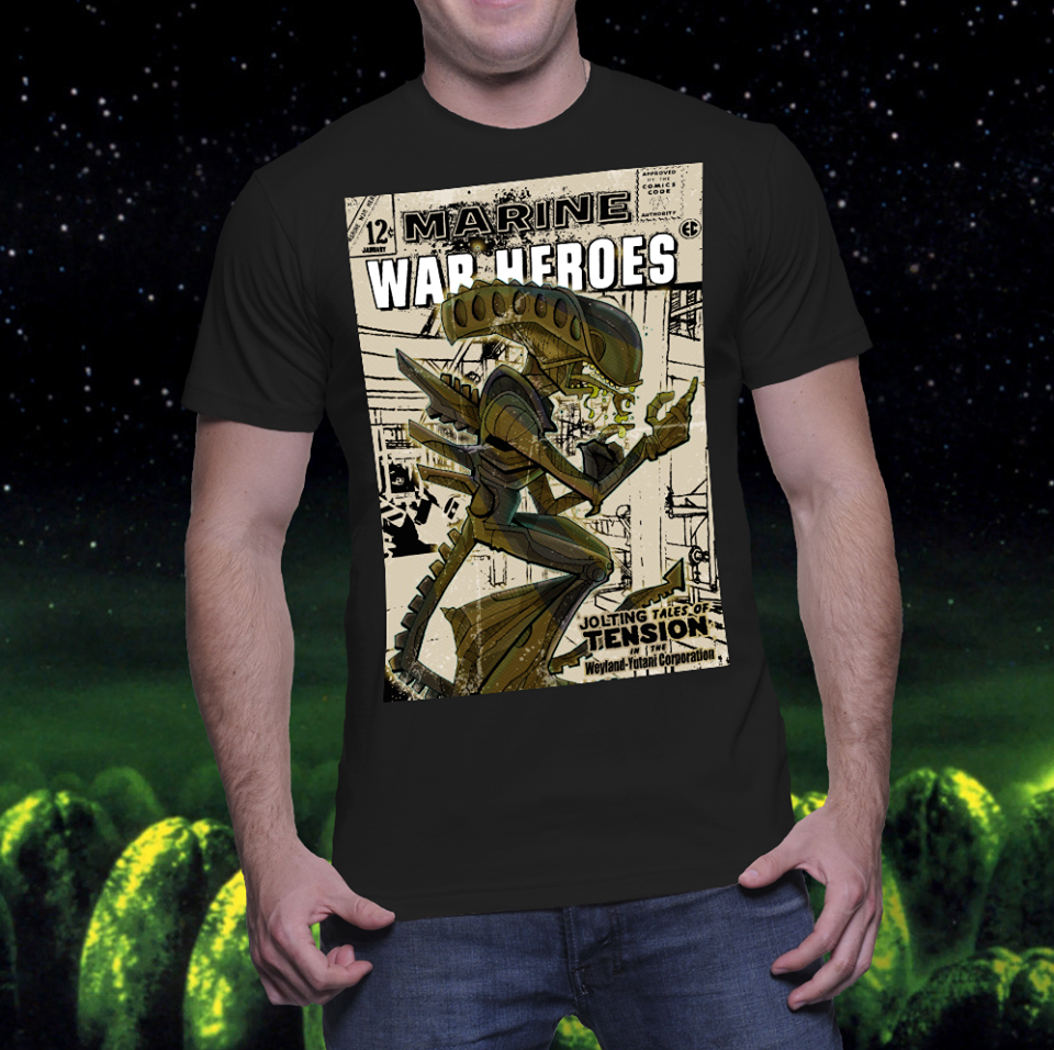 Image of BM Exclusive Chris Hamer Alien T shirt or Print