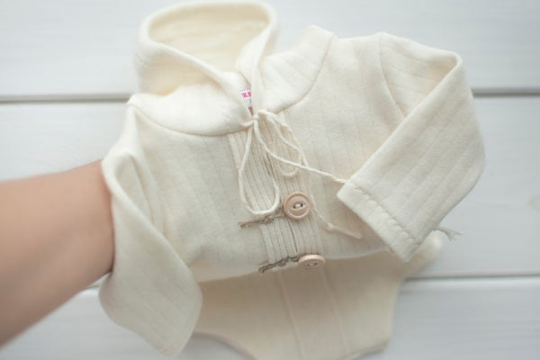 Image of Luis hooded romper / three sizes