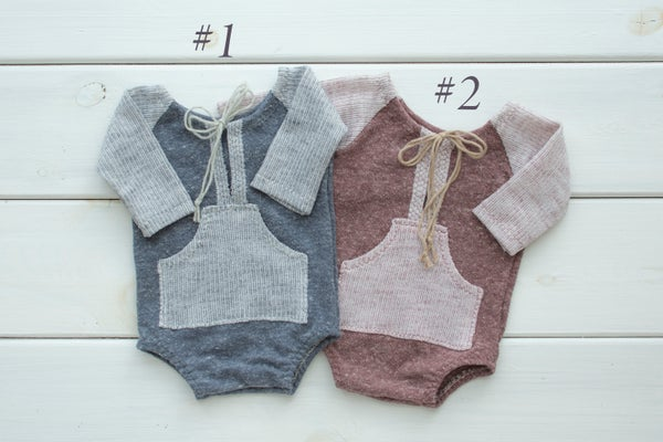 Image of Chase romper / newborn size / two options