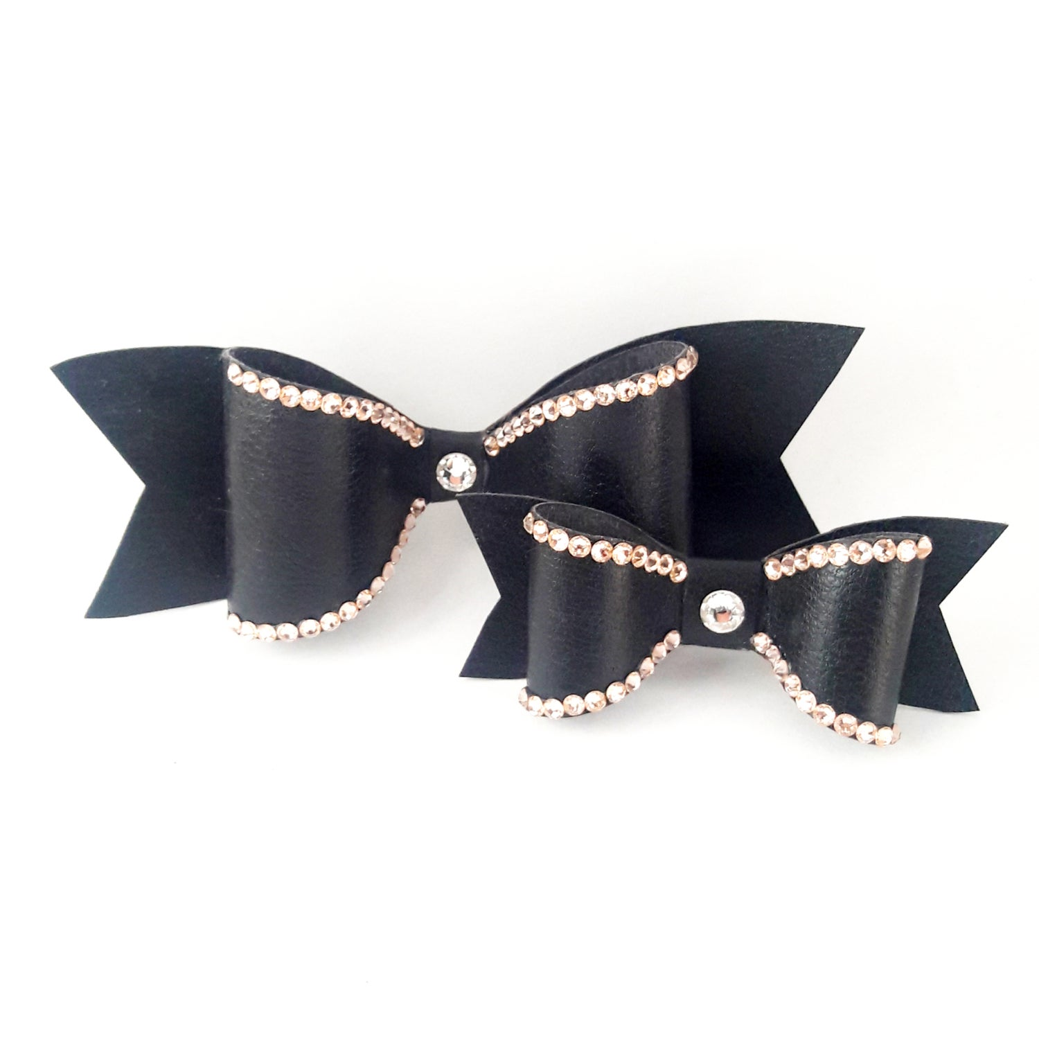 "Image of ""Peach Bellini"" Crystal Bling Hair Bow"