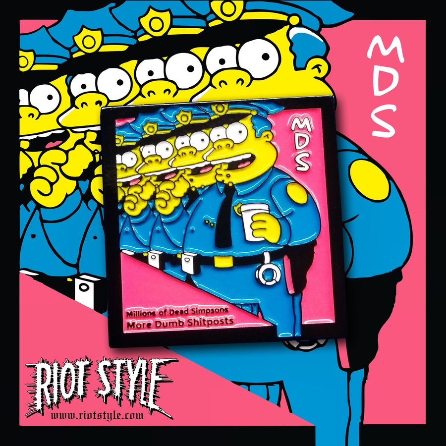 Image of Riot Style x MDS (Millions of Dead Simpsons) Album Cover Lapel Pin