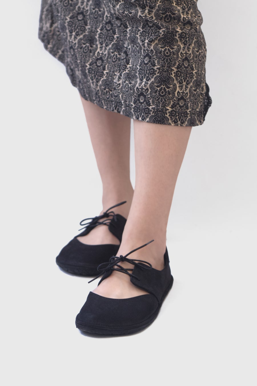 Image of Derby Ballet flats in Black Nubuck