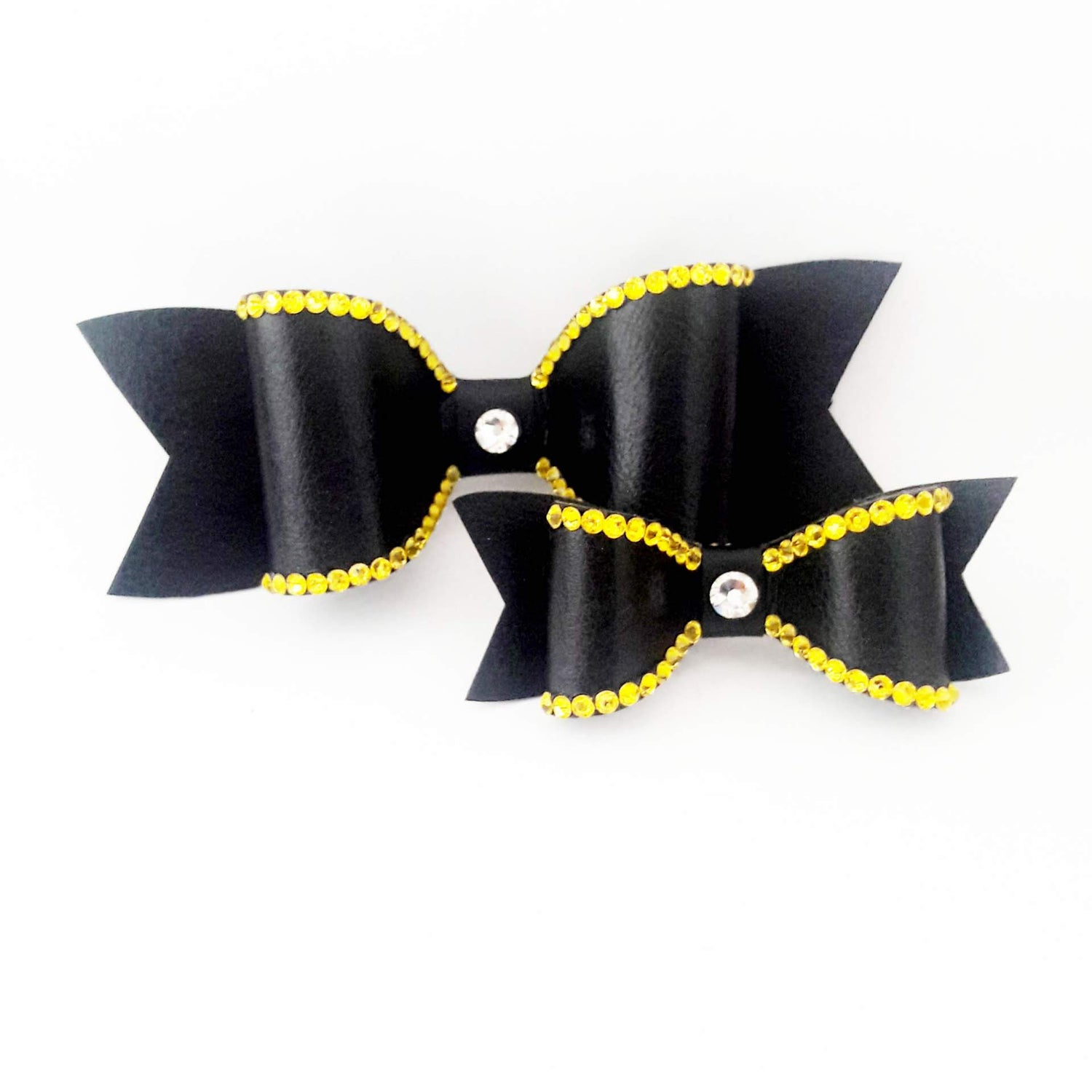 "Image of ""Citrine Yellow"" Crystal Bling Hair Bow"
