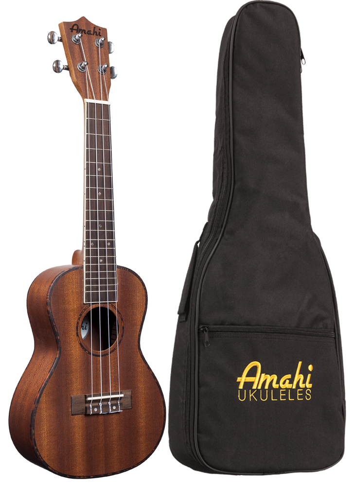 Image of Amahi Classic Mahogany Series UK-220 in Soprano, Concert, Tenor & Baritone