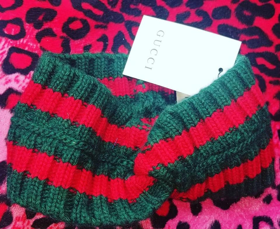 Image of Red and Green Head Wrap