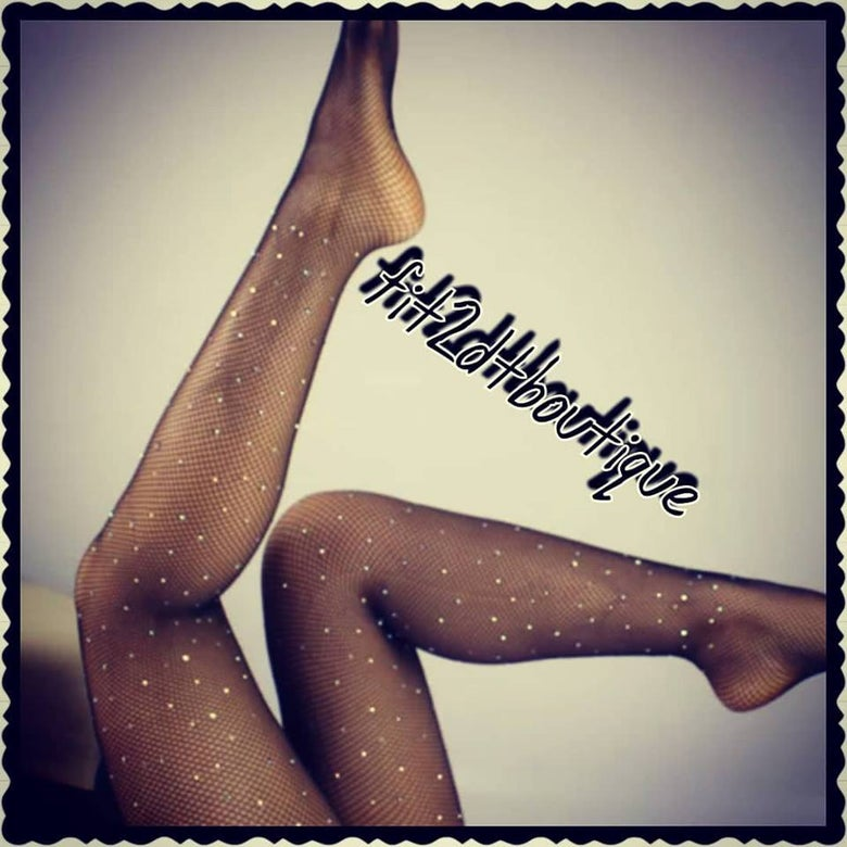 Image of Rhinestone fishnet stocking