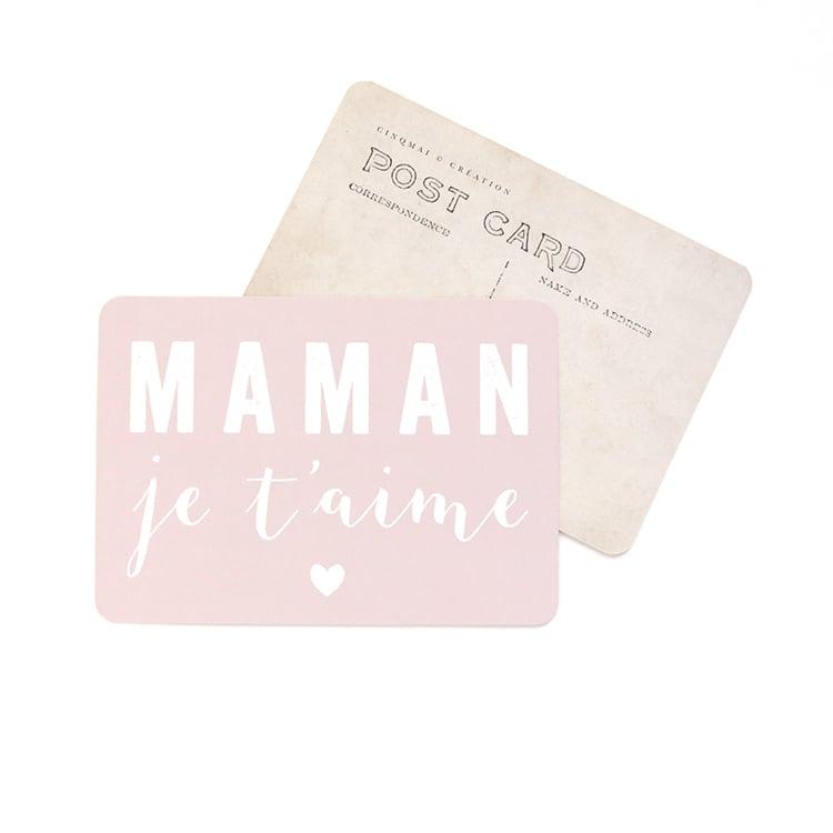 Image of Carte Postale MAMAN JE T'AIME
