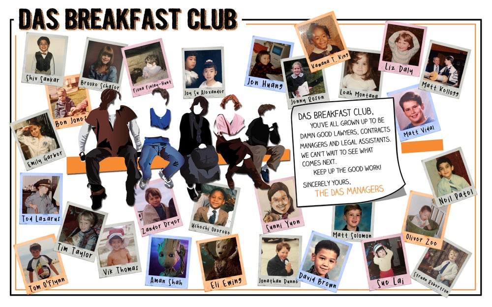 Image of DAS Breakfast Club Yearbook Spread