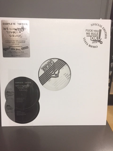 """Image of COMPLETE CONTROL - """"We Want Your Drugs"""" 12"""" TEST PRESSING"""