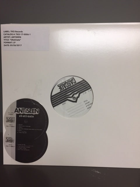 "Image of ANTiSEEN - ""Obstinate"" LP TEST PRESSING"