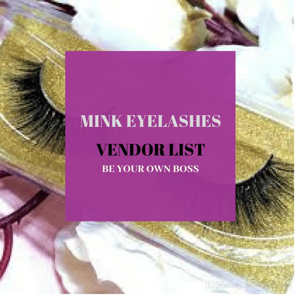 Mink Lashes Vendor List