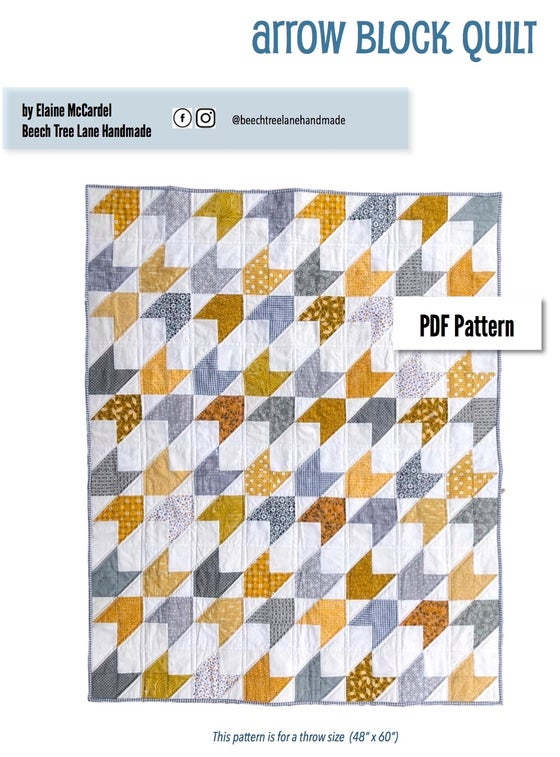 Image of Arrow Block PDF Quilt Pattern
