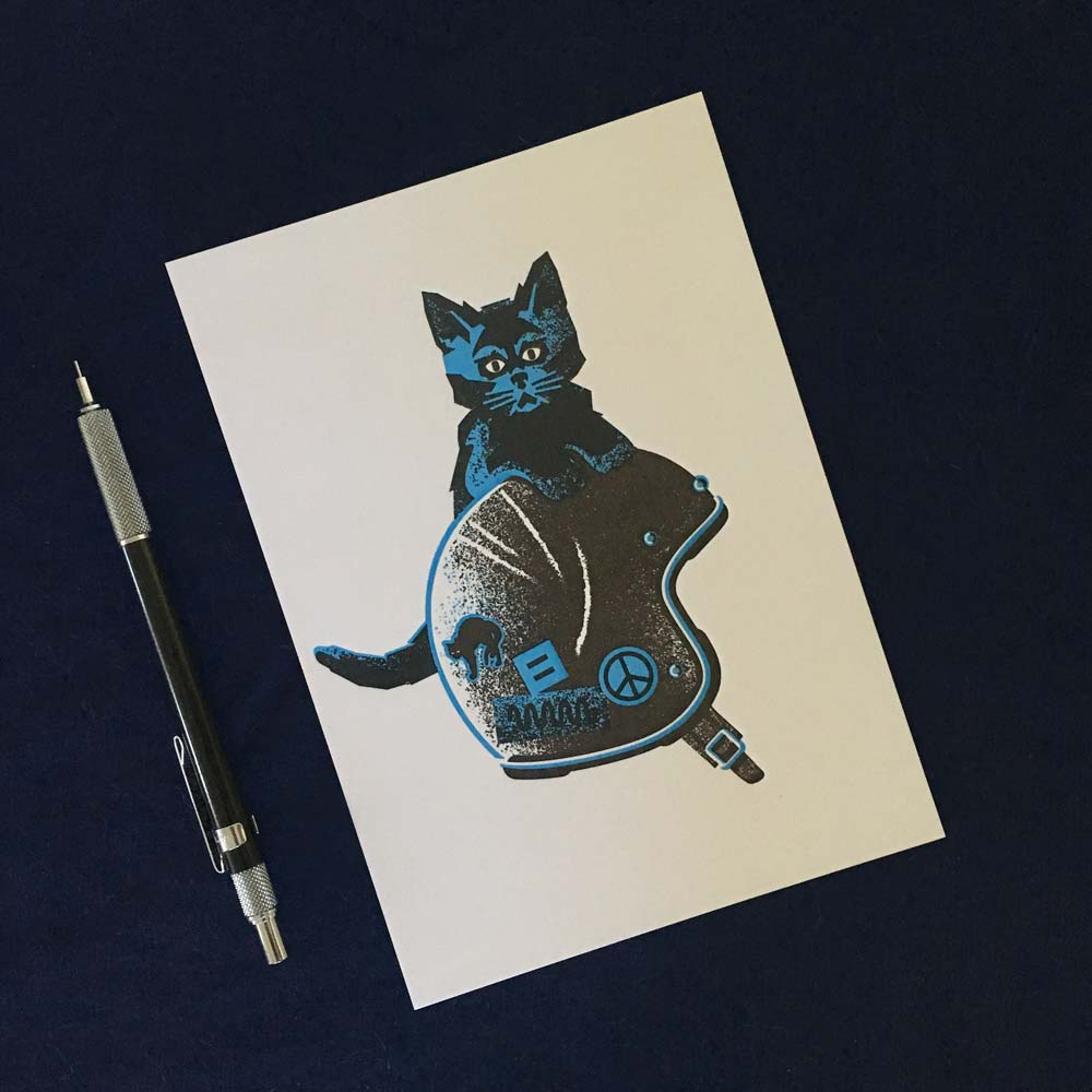 "Image of ""Lil Bob-Cat"" Letterpress Prints to Benefit Bob Otis"