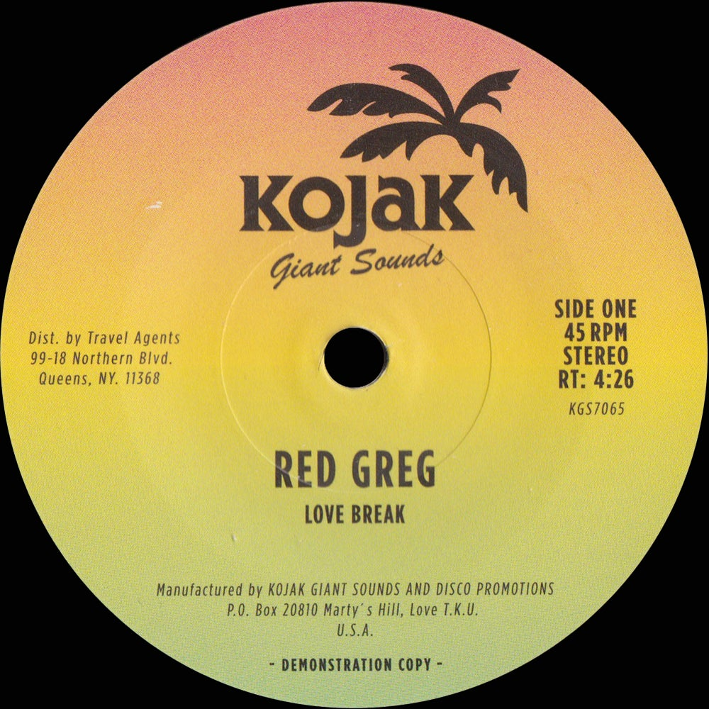 "Image of Red Greg - ""Love Break"" b/w ""Burnin"" 7"""