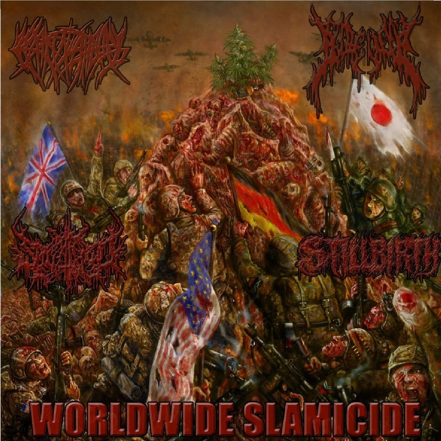 Image of Crepitation / Splattered / Gorevent / Stillbirth - Worldwide Slamicide CD