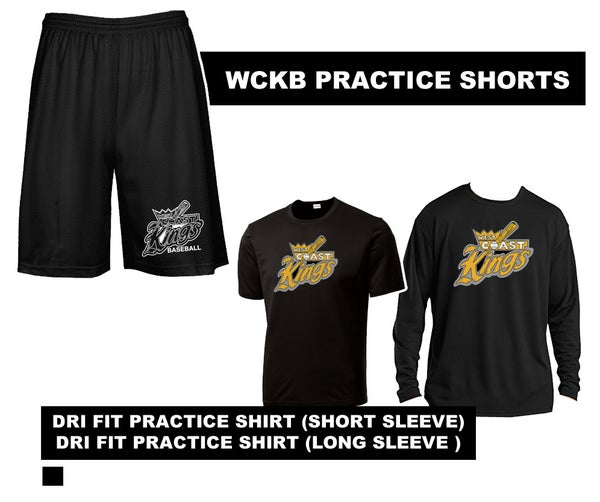 Image of WCKB Official Practice Gear | Shorts | Dri-Fit SS SHIRT or LS