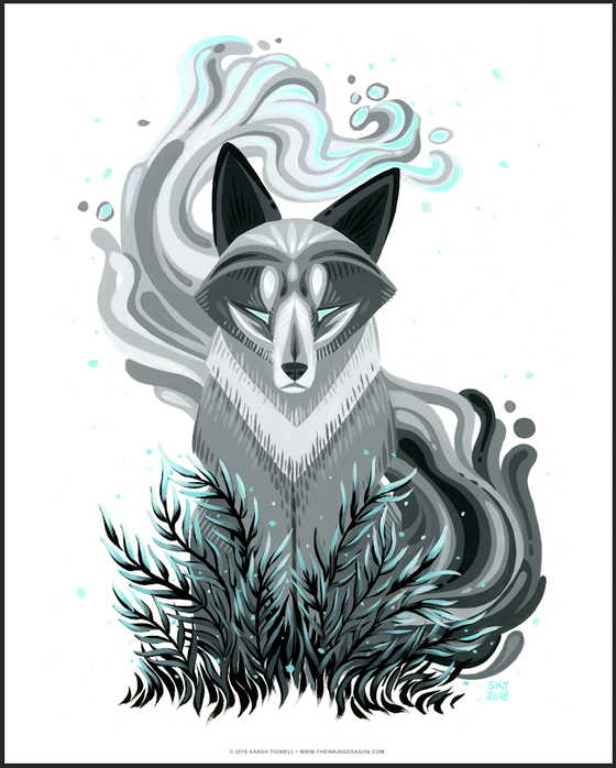 Image of Wolf Mage - Print