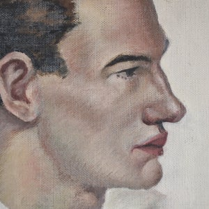 Image of Mid-century Oil Painting, 'Captain Corelli'