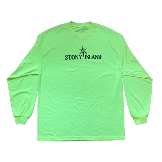 Image of STONY ISLAND Long Sleeve Tee (Safety Green)