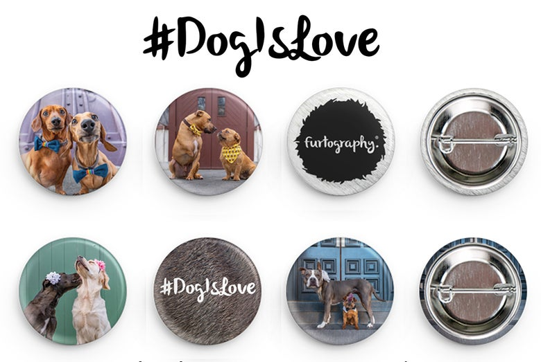 Image of #DogIsLove - 6 pack Buttons/badges
