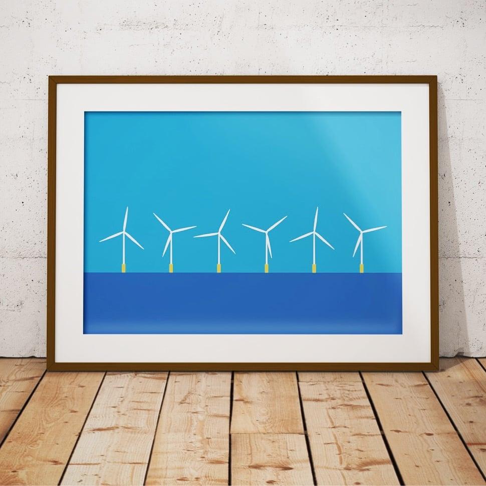 Image of Minimalist Wind Farm