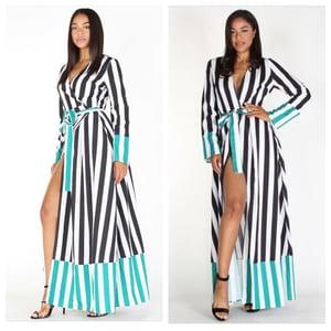 Image of Striped maxi dress