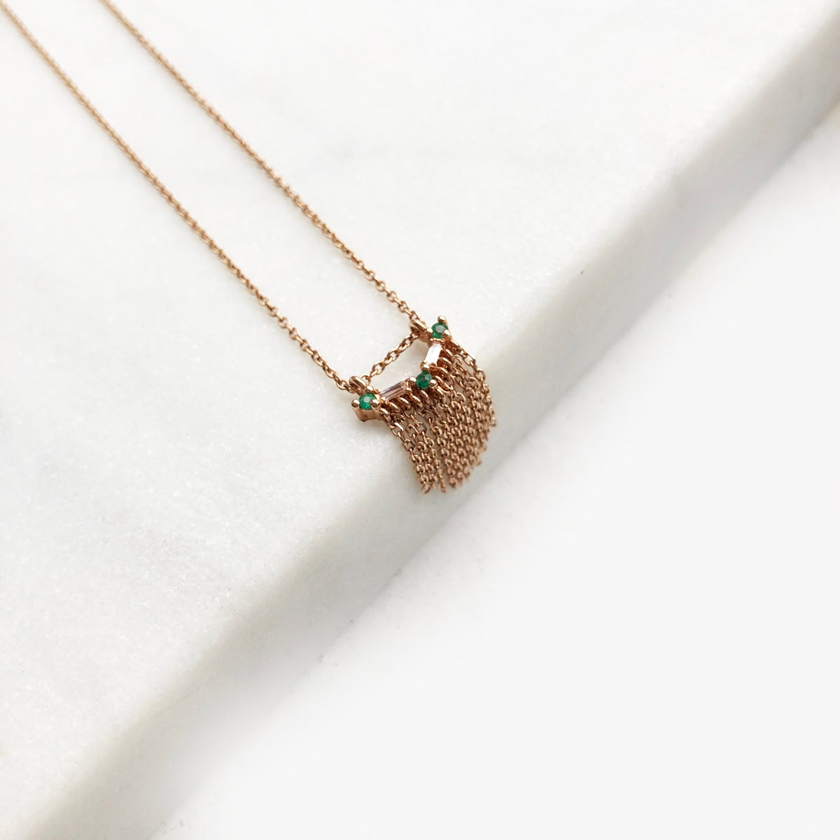 Image of Deco Fringe Necklace