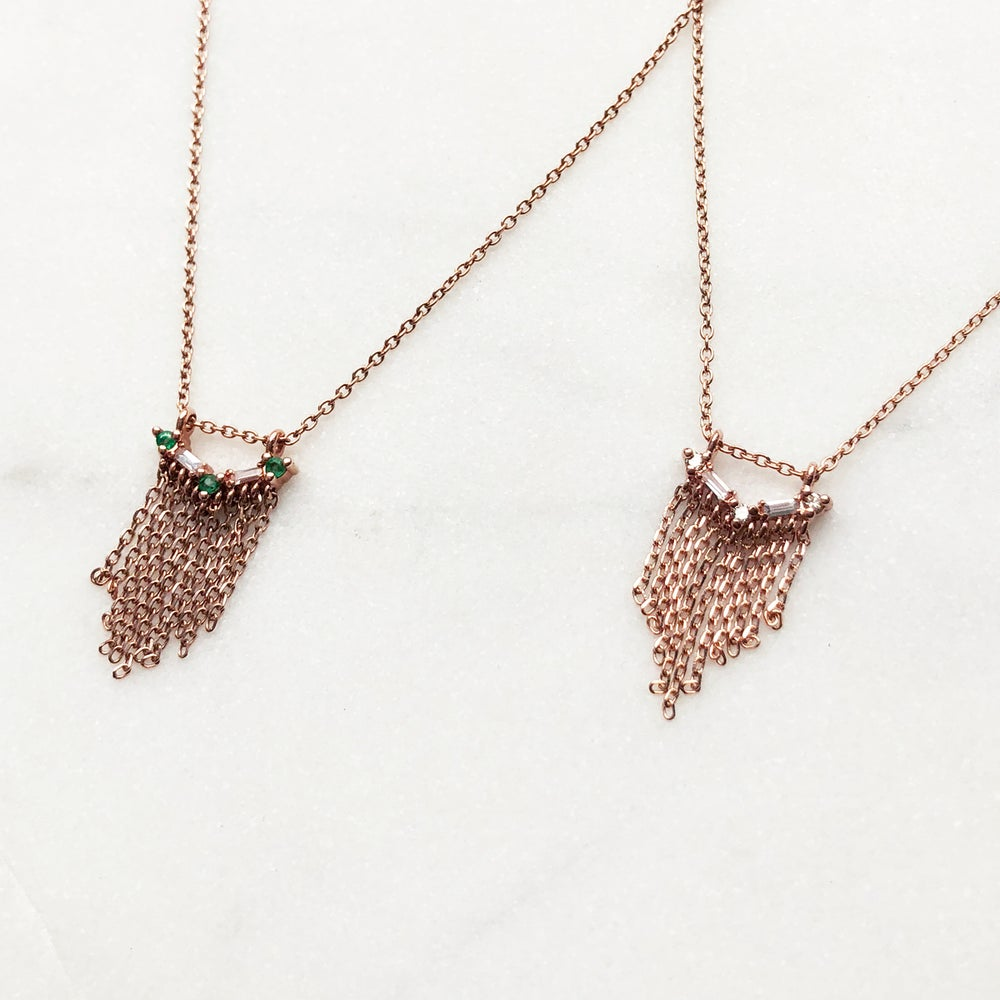 Image of Deco Fringe Necklace
