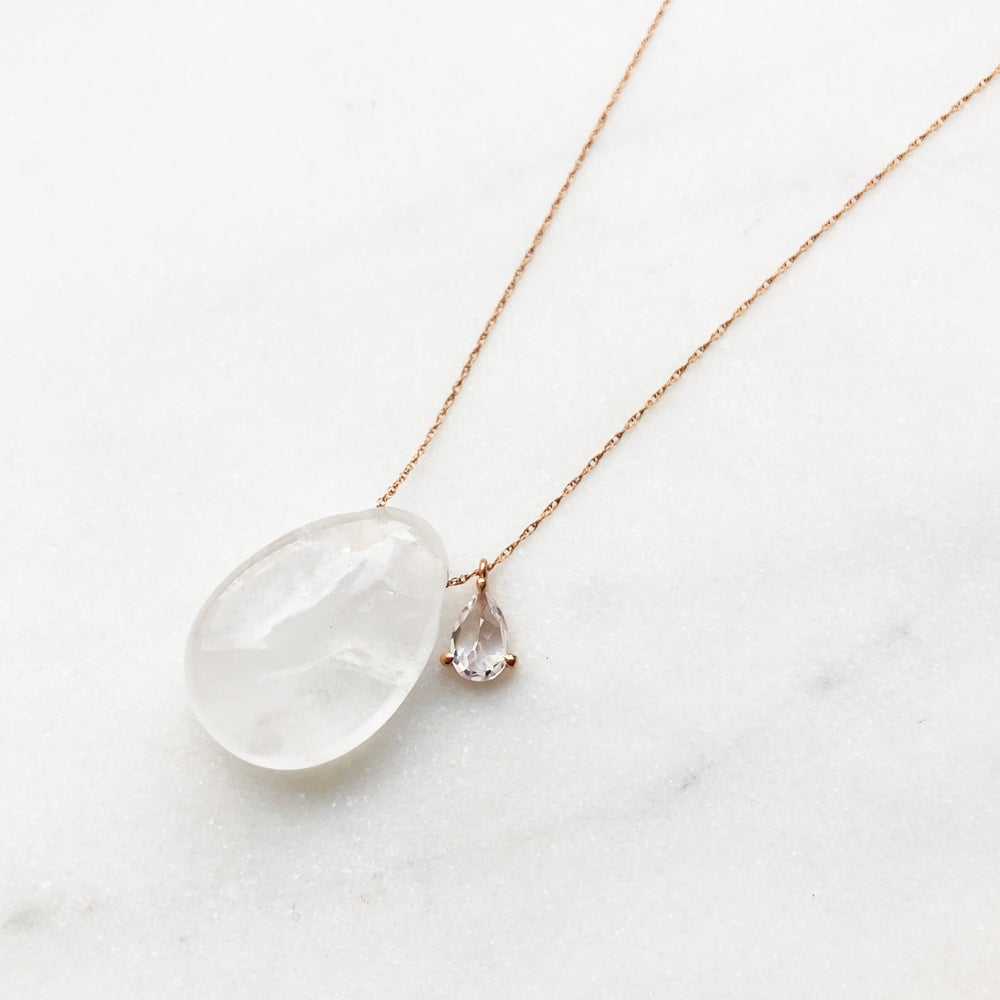 Image of Natural Quartz Pebble Necklace