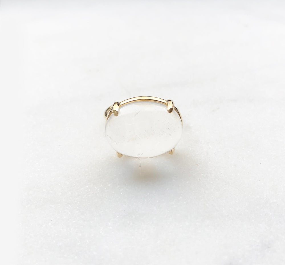 Image of Clear Quartz Dome Ring