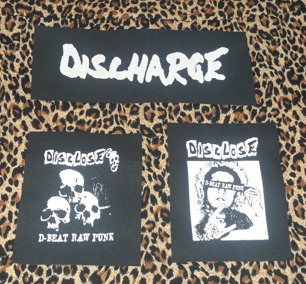 Image of Pick 1 patch - Disclose, Disclose skull, Discharge long rocker patch