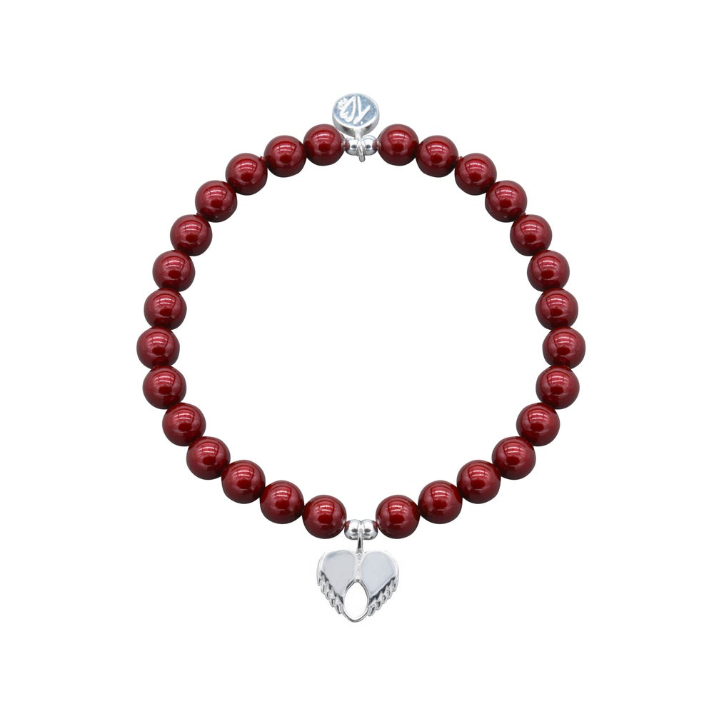 Image of NEW Love Swarovski Pearl Dainty Love Bracelet