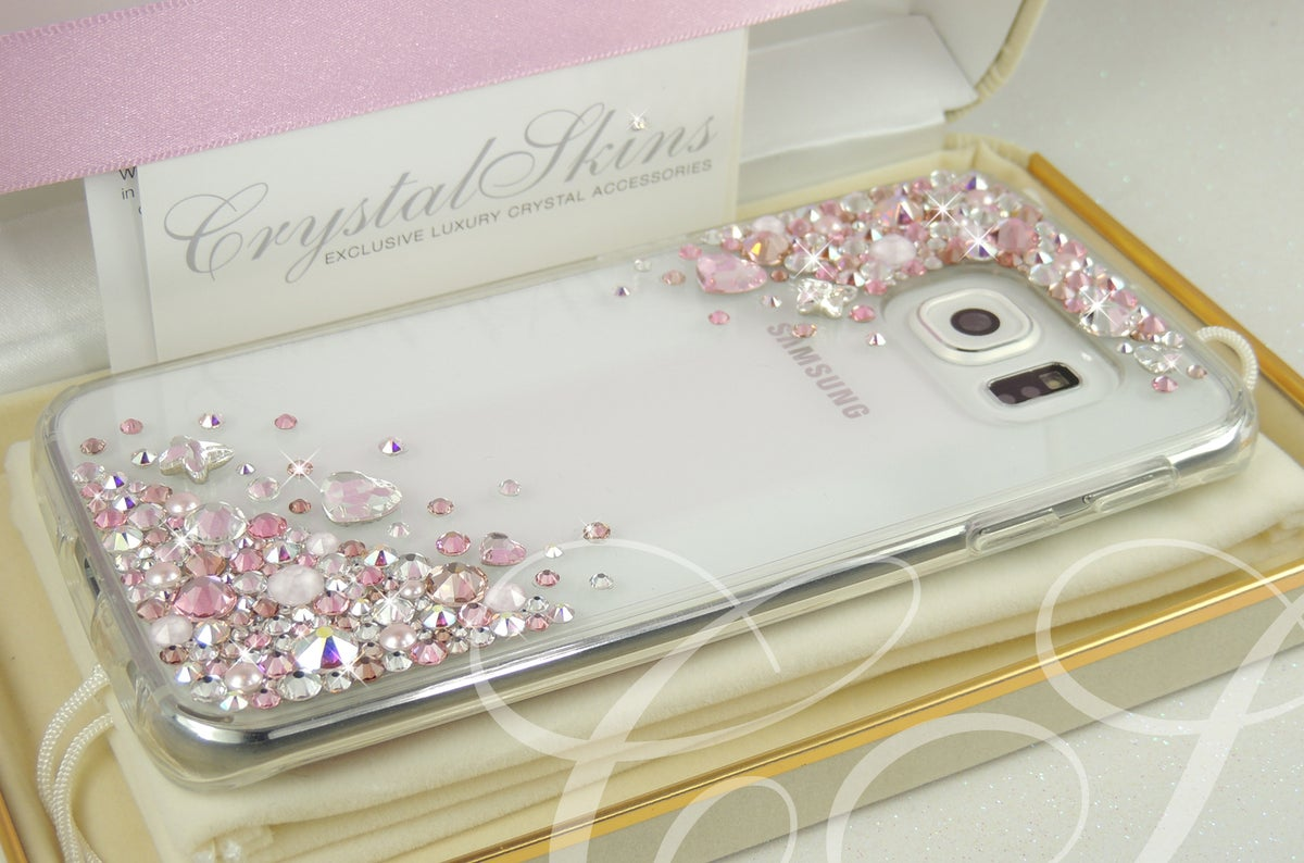 Image of Crystal Cascade Rose Gold Limited Edition For iPhone & Samsung