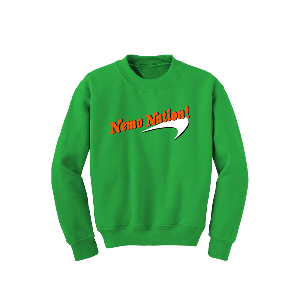 "Image of Green ""Nemo Nation Crewneck"