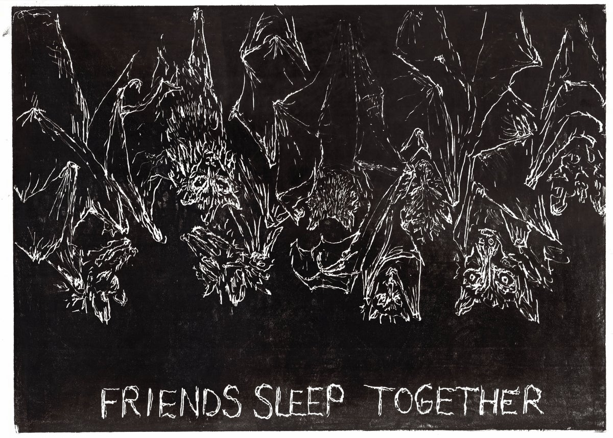 "Image of Friends Sleep Together 30""x40"""