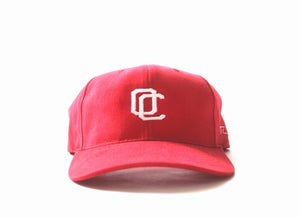 Image of OC CURVED BILL HAT (RED)