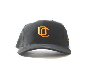 Image of OC CURVED BILL HAT (BLACK & YELLOW)